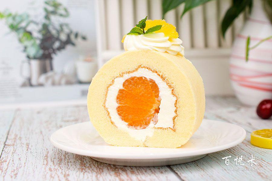 橘子蛋糕卷的做法视频大全_西点培训学习教程