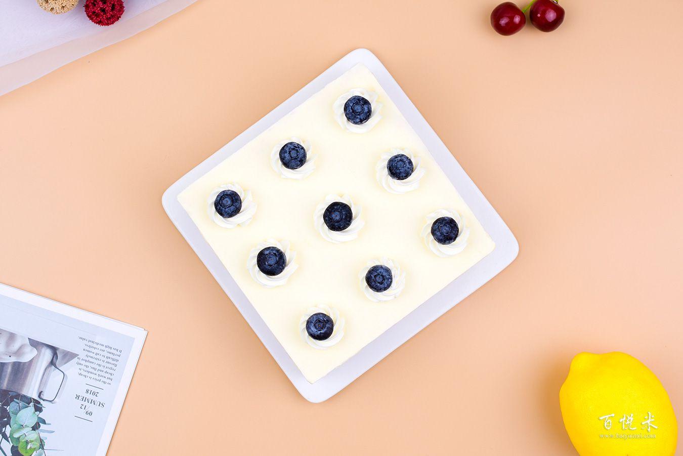 蓝莓芝士蛋糕高清图片大全【蛋糕图片】_373