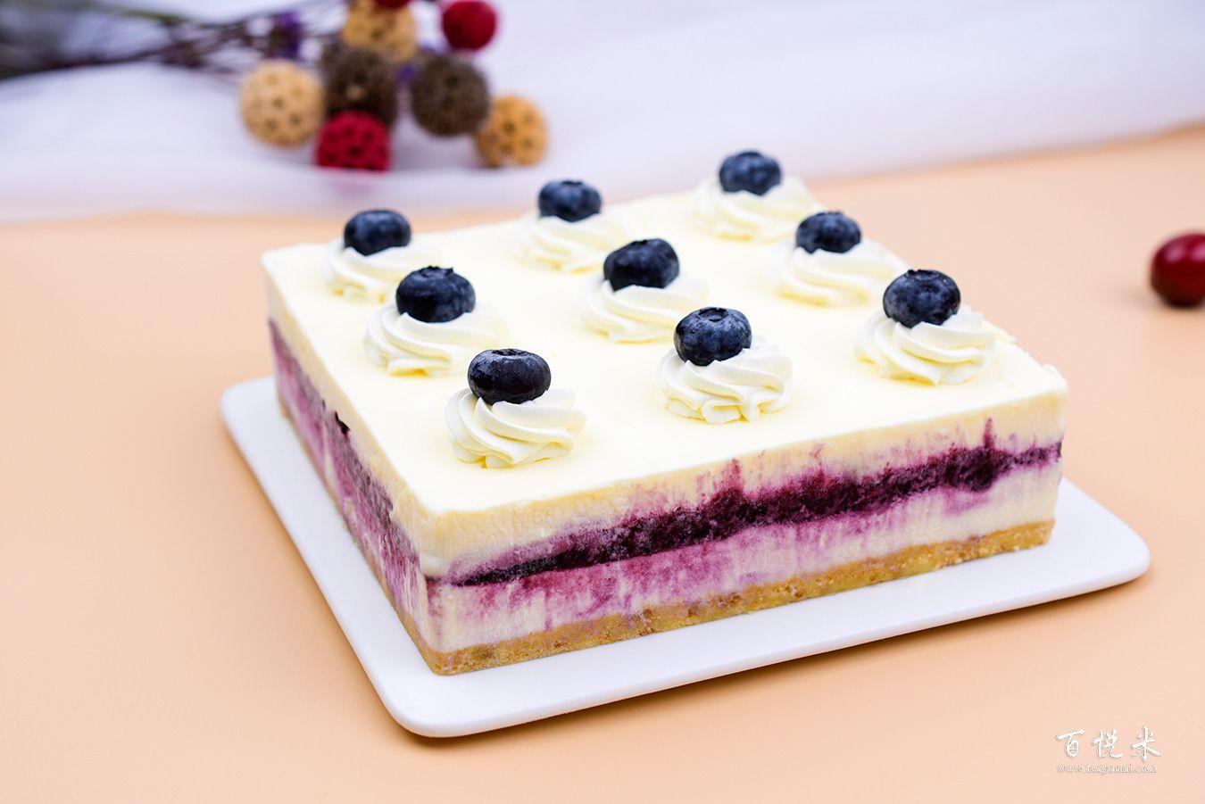 蓝莓芝士蛋糕高清图片大全【蛋糕图片】_372