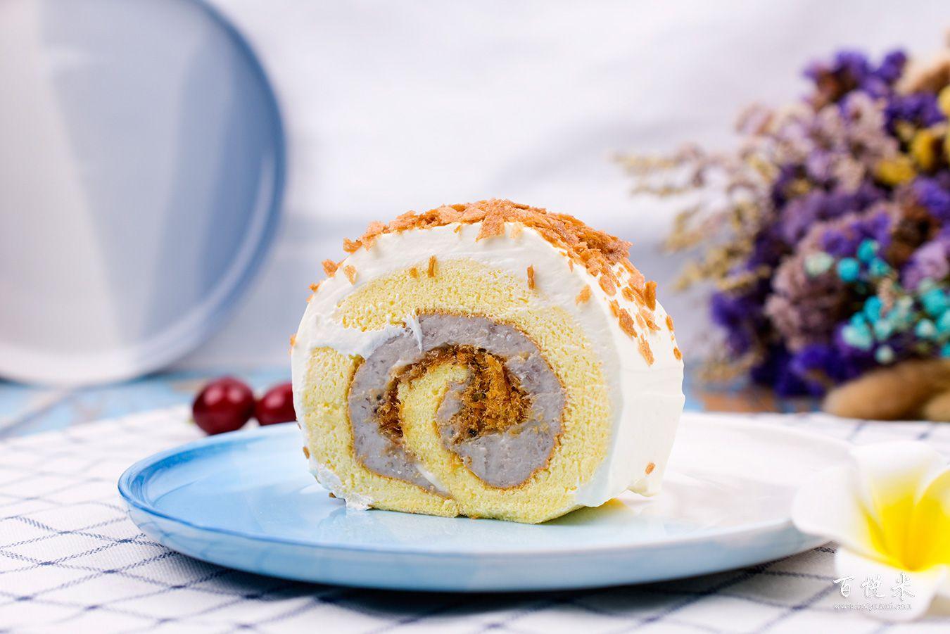 香芋蛋糕卷高清图片大全【蛋糕图片】_384