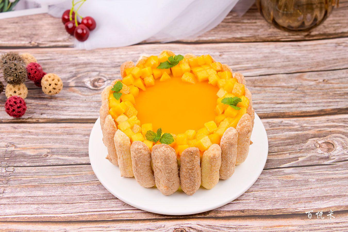 芒果夏洛特蛋糕高清图片大全【蛋糕图片】_462