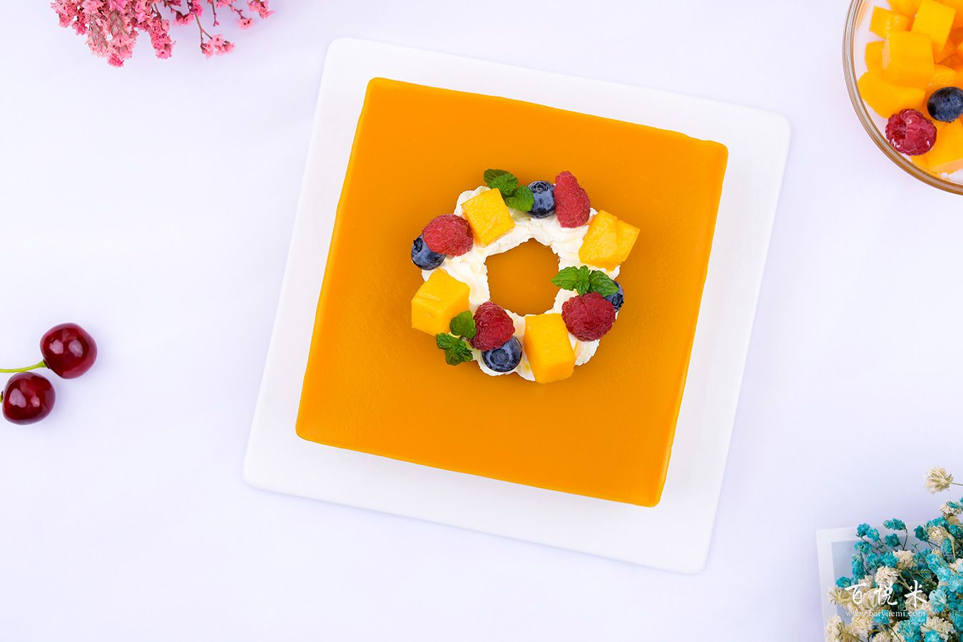 芒果慕斯蛋糕高清图片大全【蛋糕图片】_457