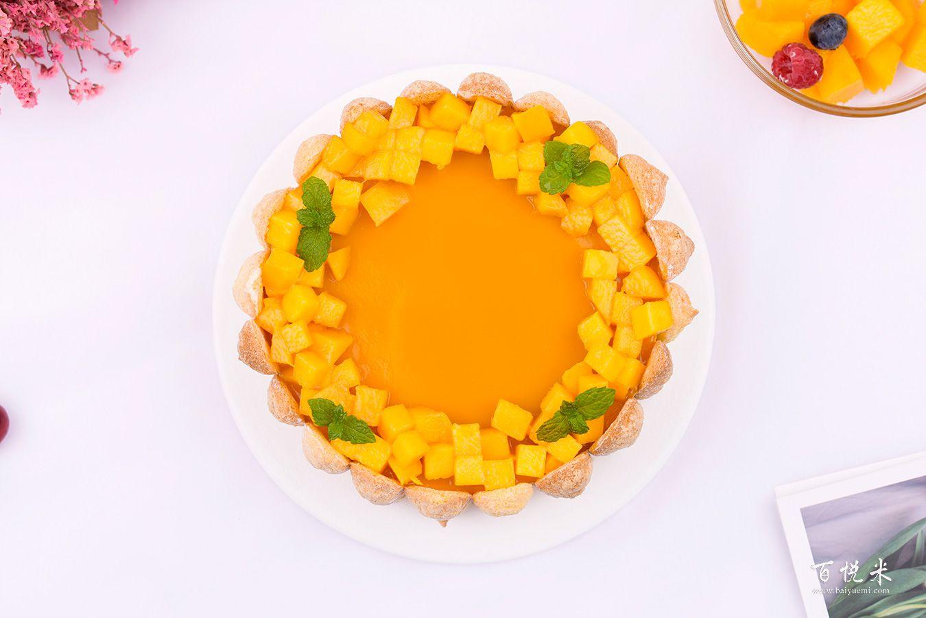 芒果夏洛特蛋糕高清图片大全【蛋糕图片】_460