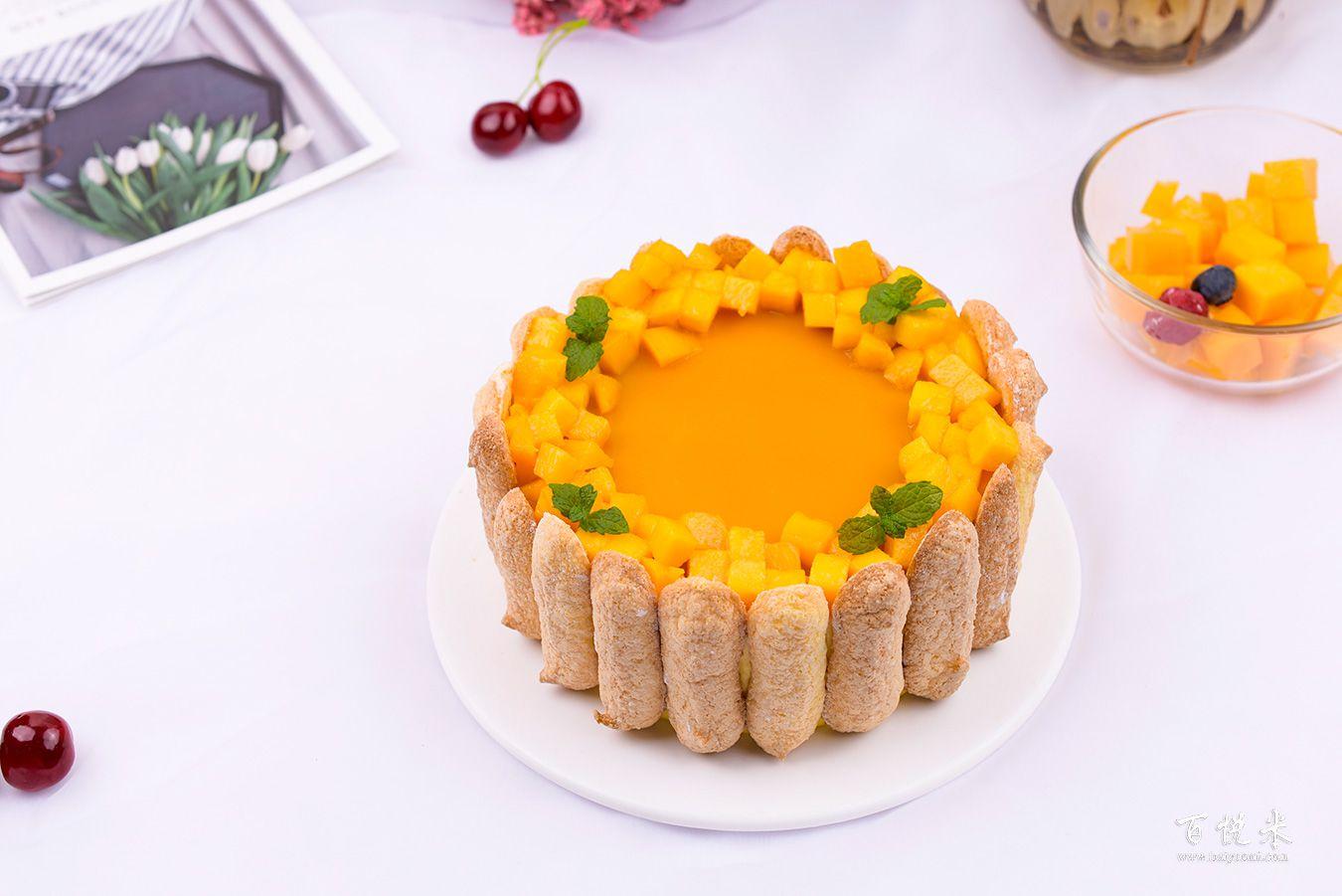 芒果夏洛特蛋糕高清图片大全【蛋糕图片】_466
