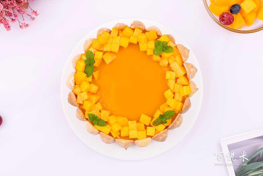 芒果夏洛特蛋糕高清图片大全【蛋糕图片】