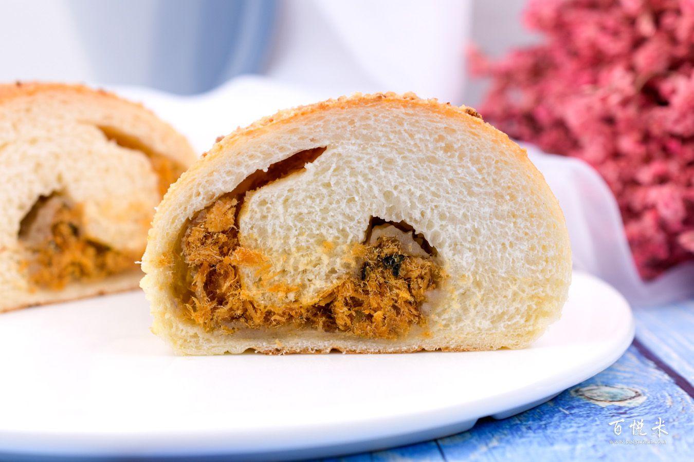 咸芋肉松包的做法大全,咸芋肉松包西点培训图文步骤分享