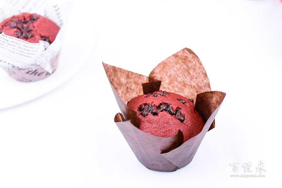 红丝绒马芬蛋糕的做法视频大全_西点培训学习教程