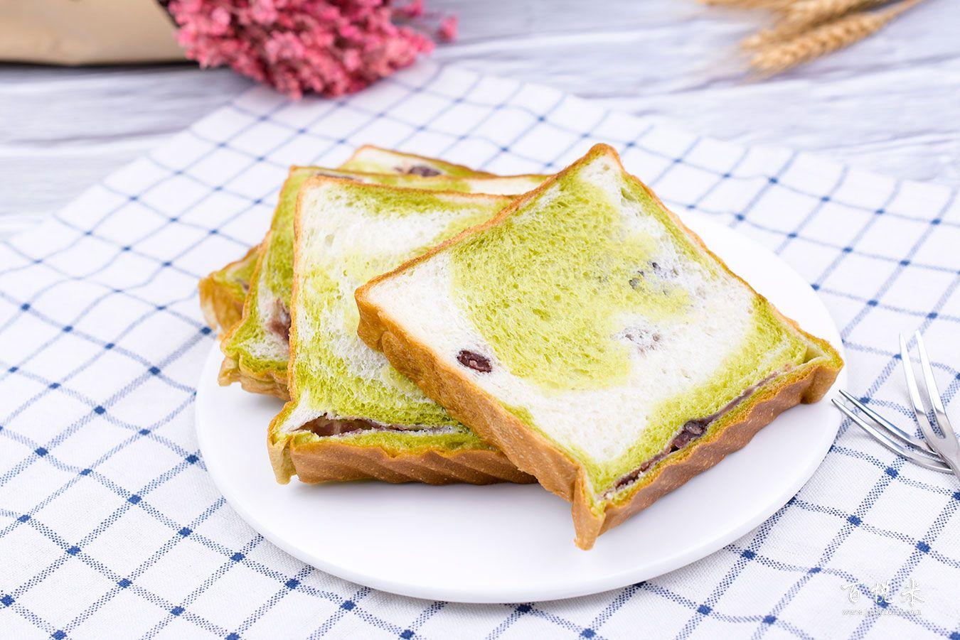 抹茶红豆吐司面包高清图片大全【蛋糕图片】_500