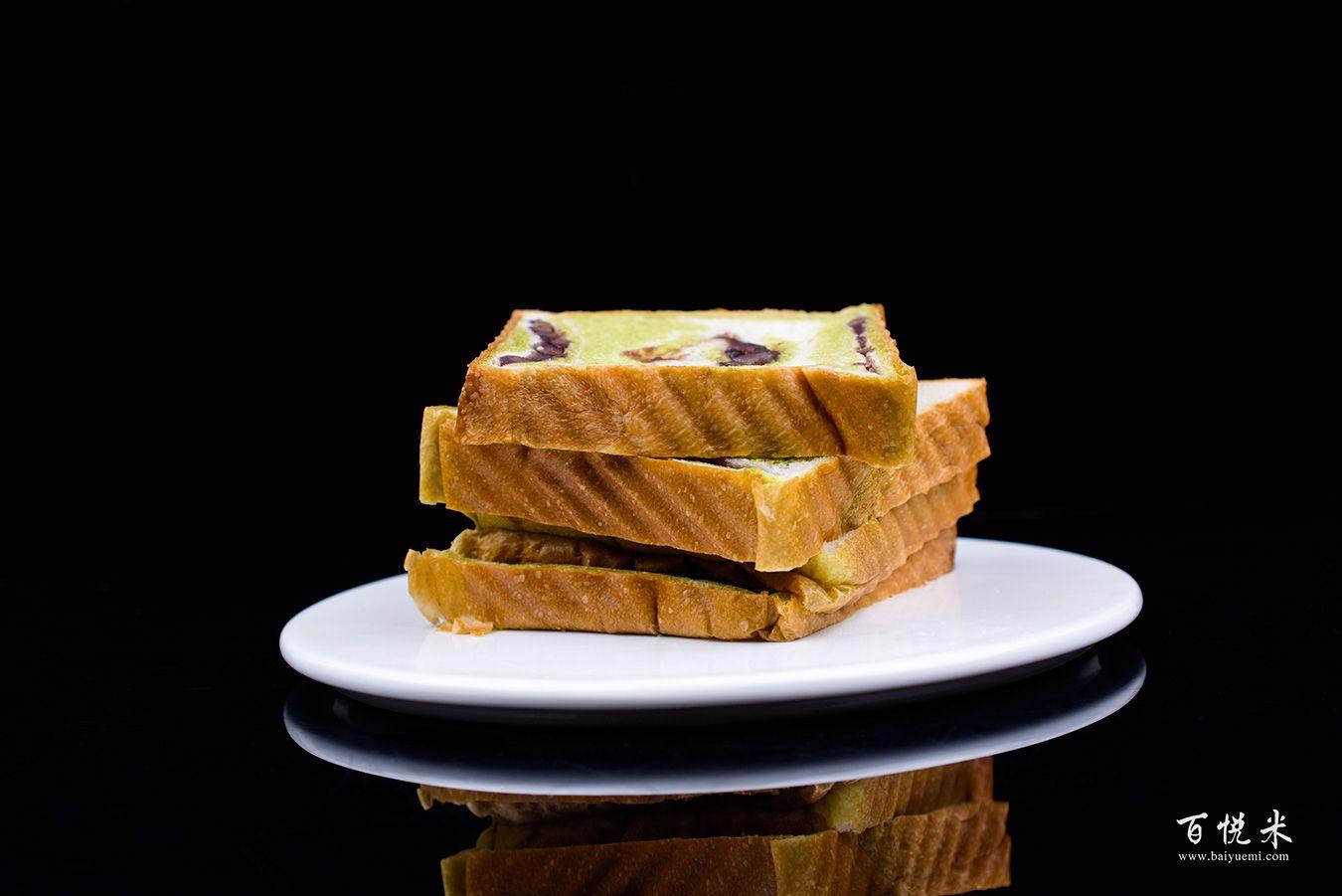 抹茶红豆吐司面包高清图片大全【蛋糕图片】_504