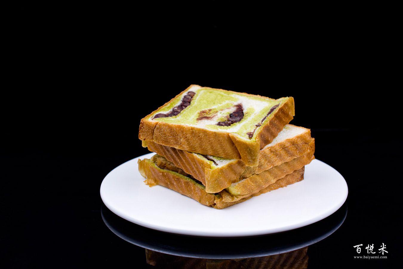 抹茶红豆吐司面包高清图片大全【蛋糕图片】_503