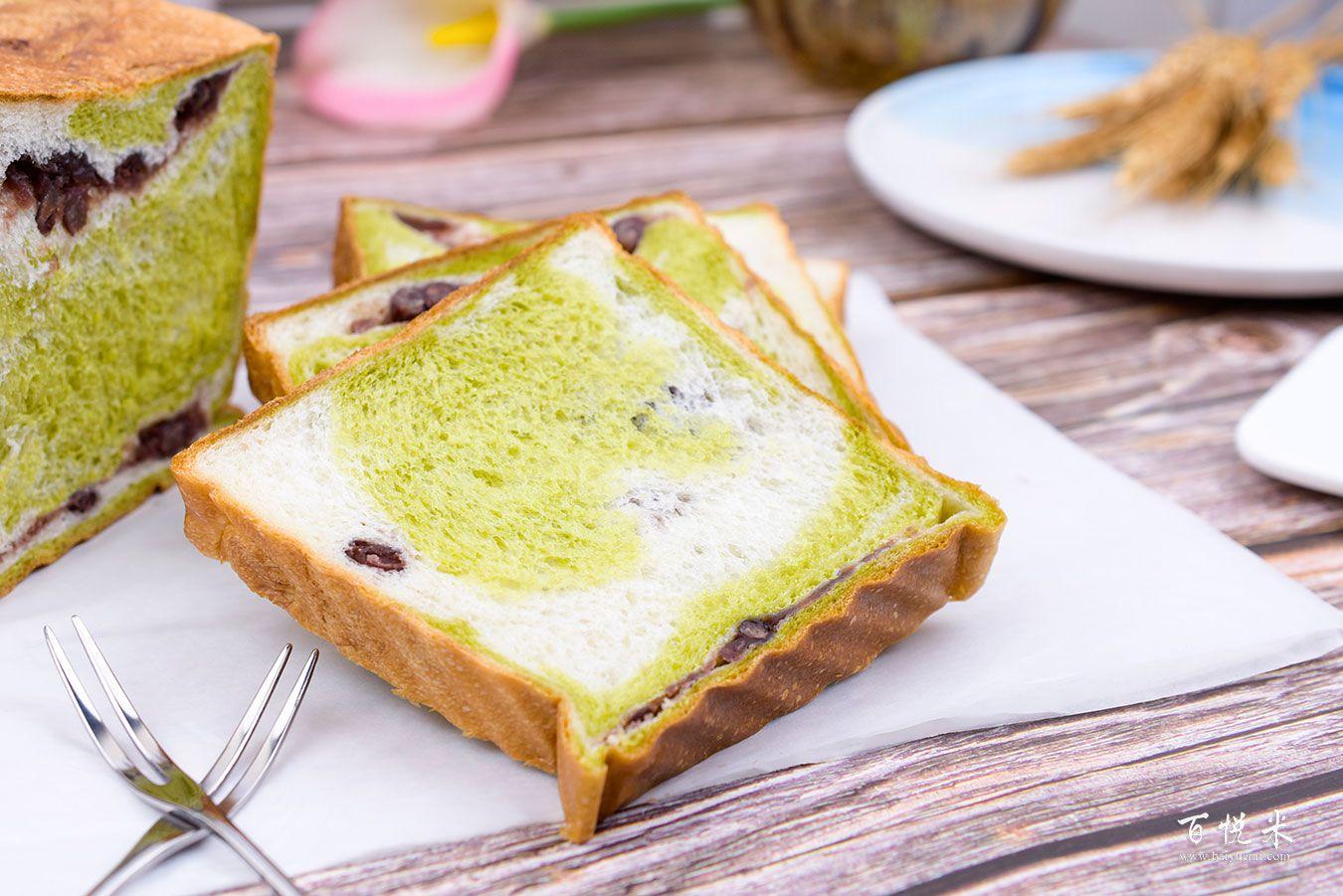 抹茶红豆吐司面包高清图片大全【蛋糕图片】_506