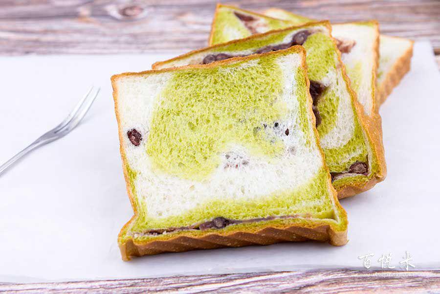 抹茶红豆吐司面包高清图片大全【蛋糕图片】