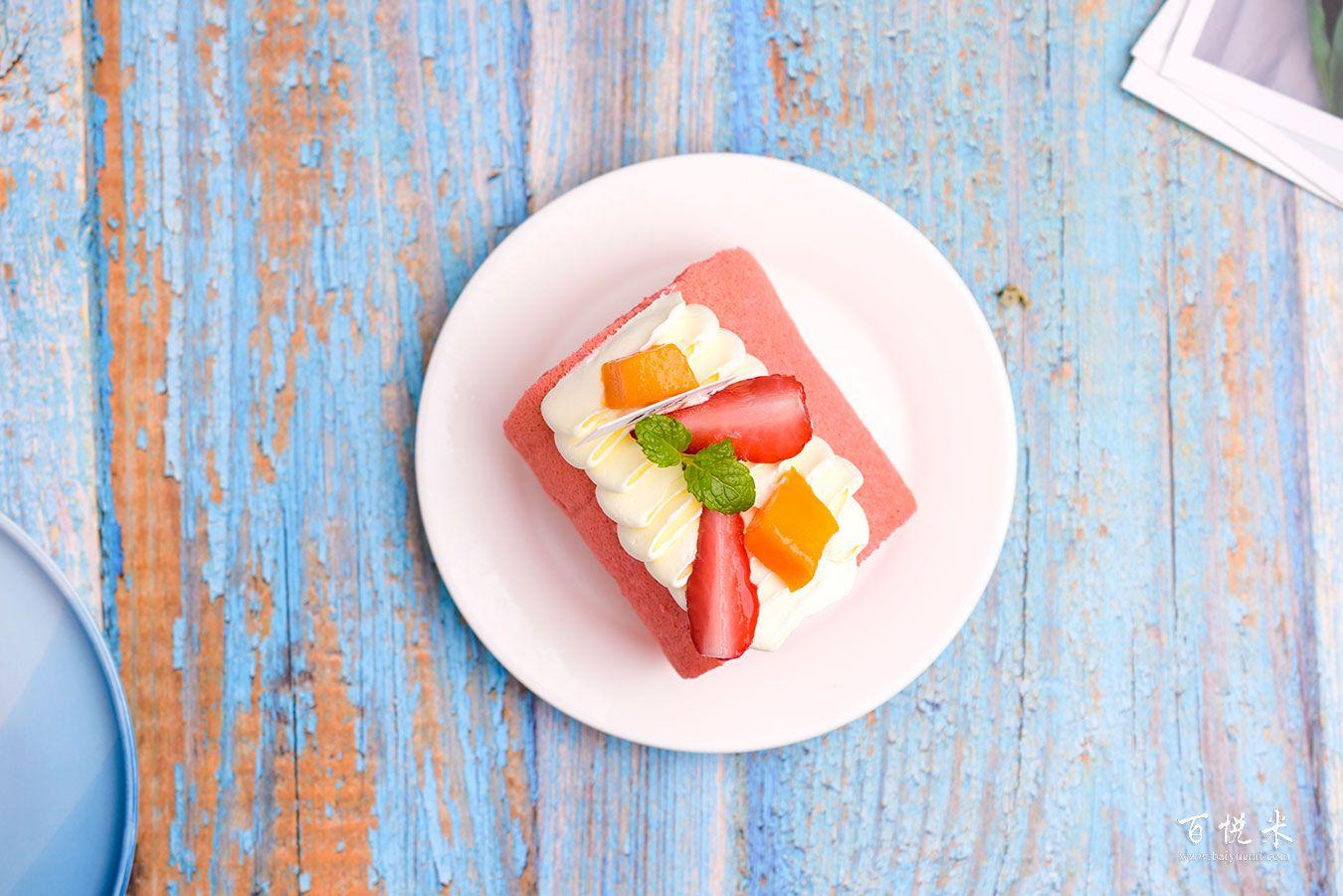 红丝绒蛋糕卷高清图片大全【蛋糕图片】_563