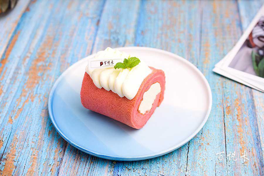 红丝绒草莓蛋糕卷的做法视频大全_西点培训学习教程