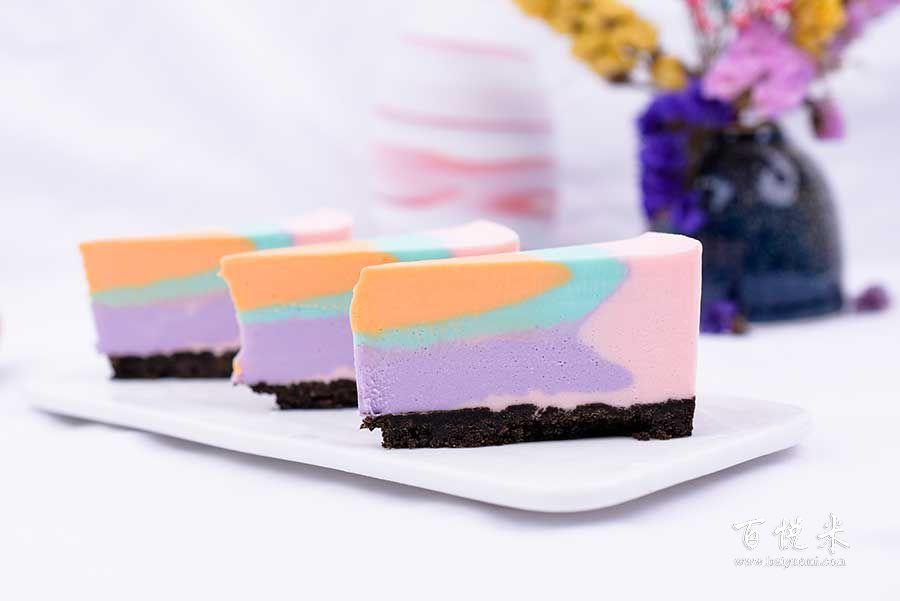 彩虹慕斯蛋糕高清图片大全【蛋糕图片】