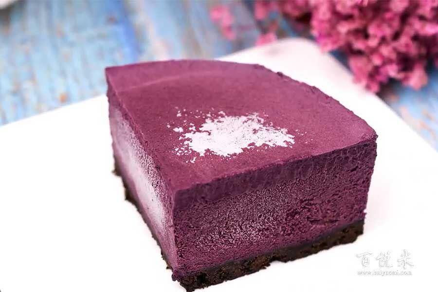 蓝莓慕斯蛋糕的做法视频大全_西点培训学习教程