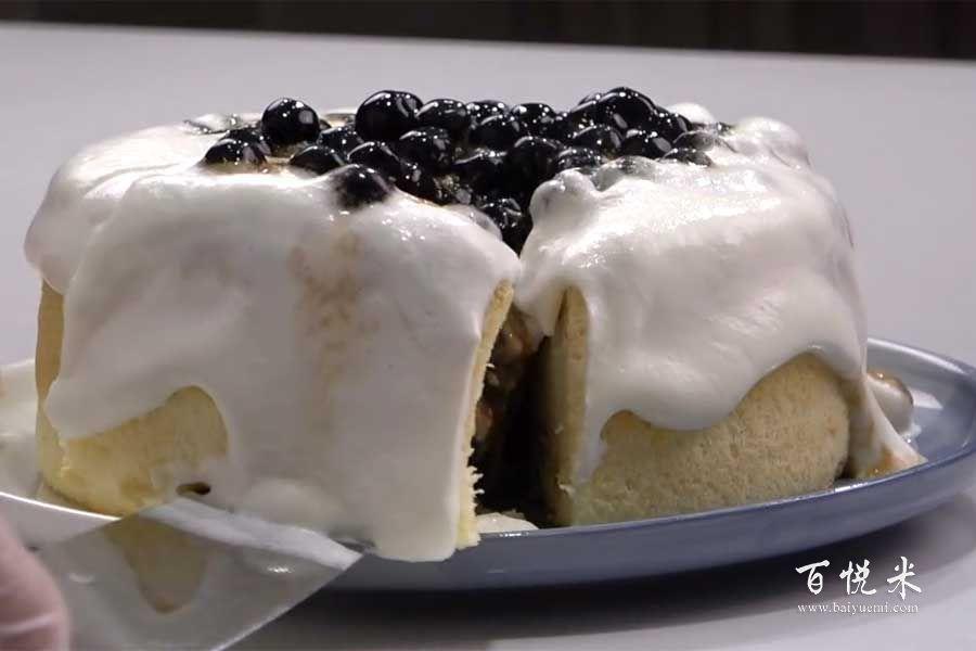 珍珠奶茶云朵奶昔蛋糕的做法视频大全_西点培训学习教程