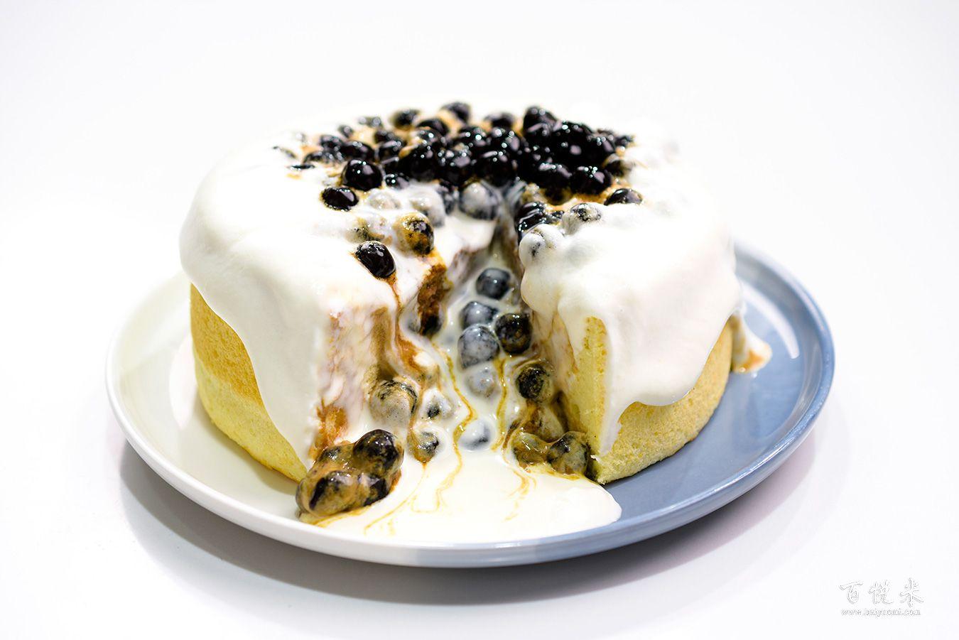 珍珠奶茶云朵蛋糕高清图片大全【蛋糕图片】_878