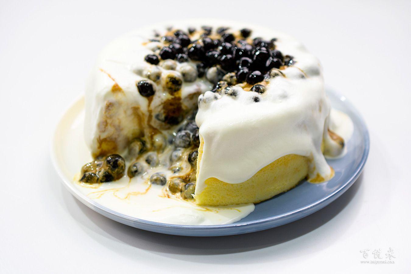 珍珠奶茶云朵蛋糕高清图片大全【蛋糕图片】_879