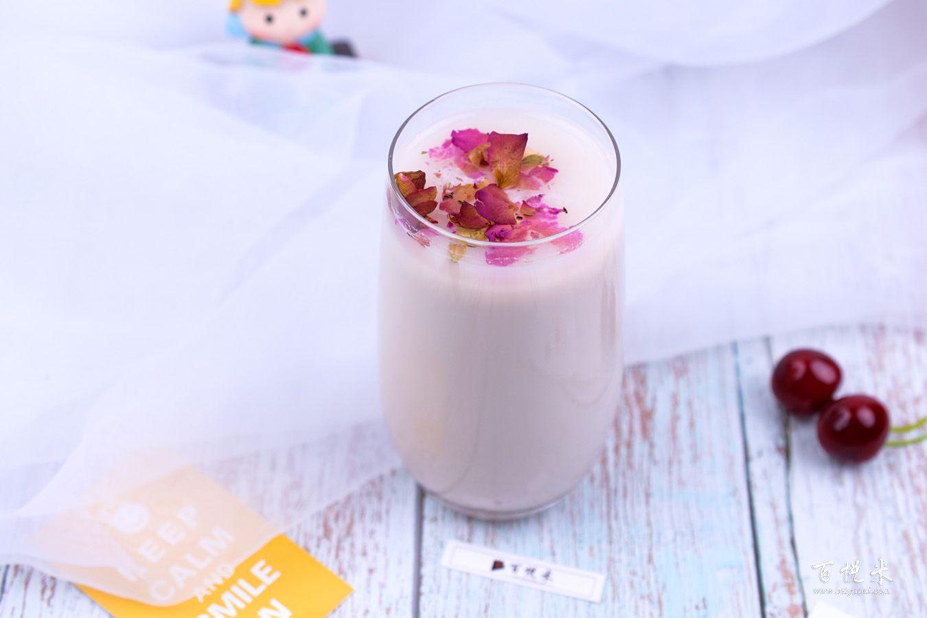 玫瑰奶茶的做法大全,玫瑰奶茶西点培训图文教程分享