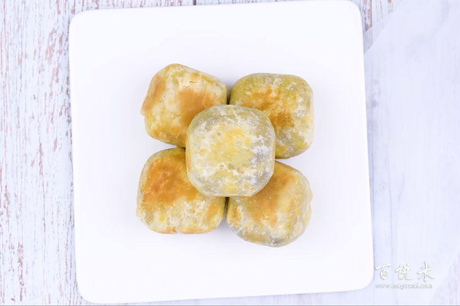 爆浆紫薯仙豆糕的做法视频大全_西点培训学习教程
