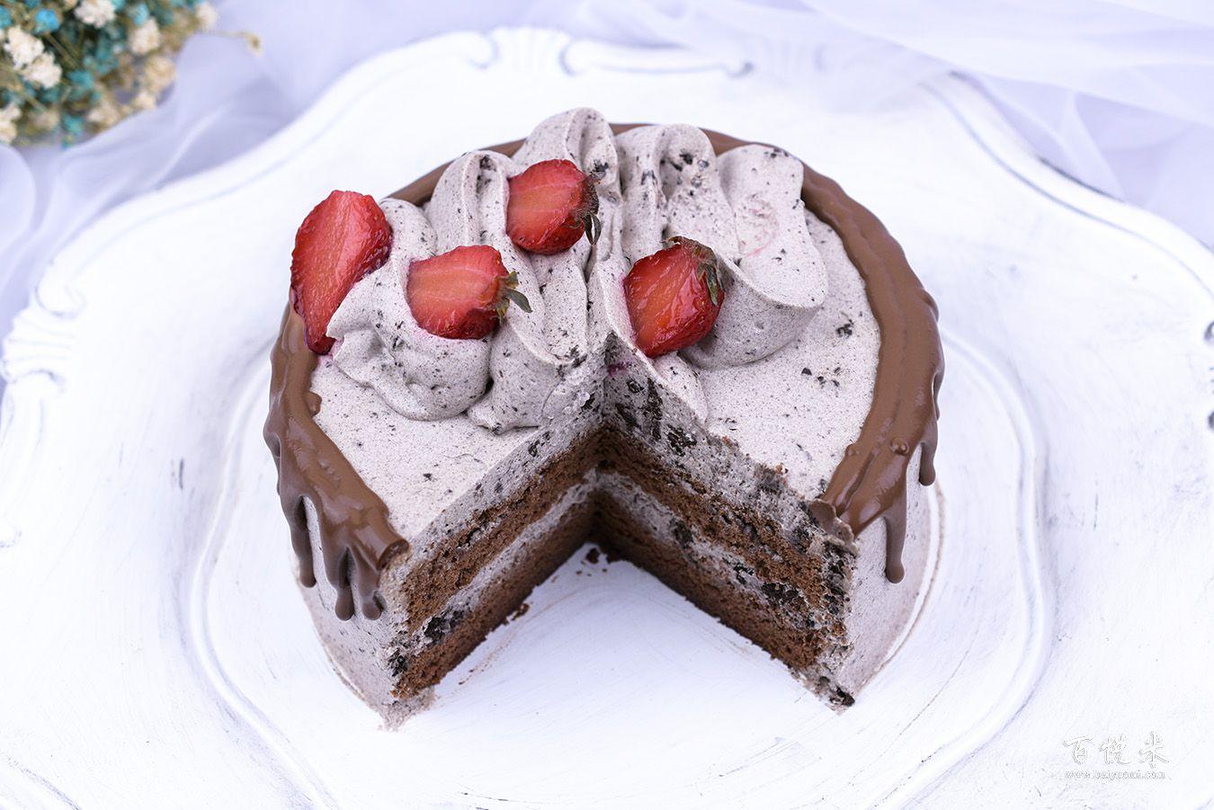 奥利奥咸奶油草莓淋面蛋糕高清图片大全【蛋糕图片】_1140