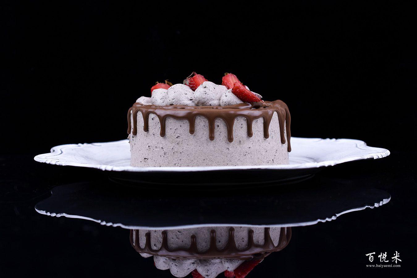 奥利奥咸奶油草莓淋面蛋糕高清图片大全【蛋糕图片】