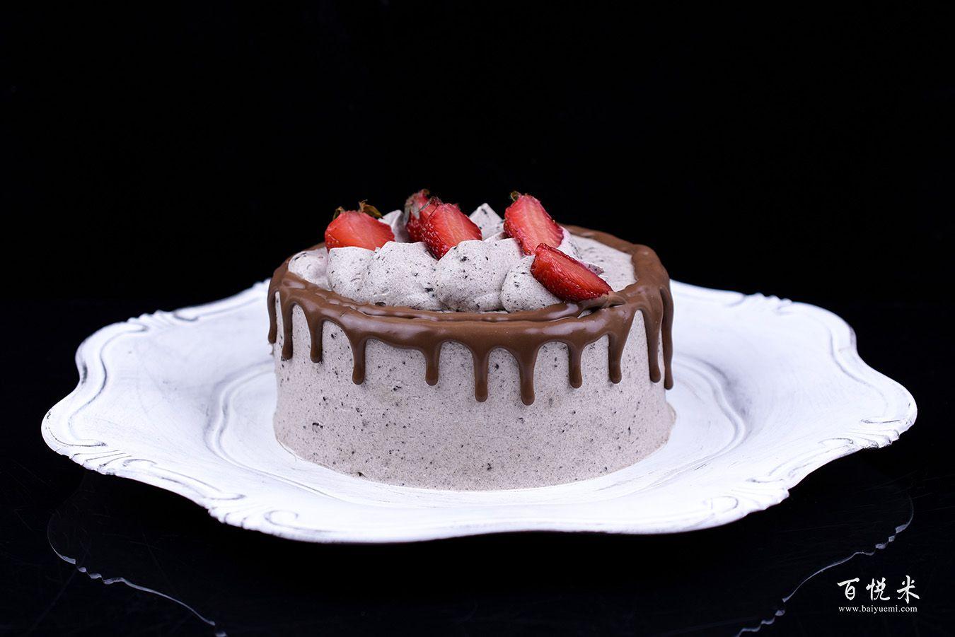 奥利奥咸奶油草莓淋面蛋糕高清图片大全【蛋糕图片】_1135