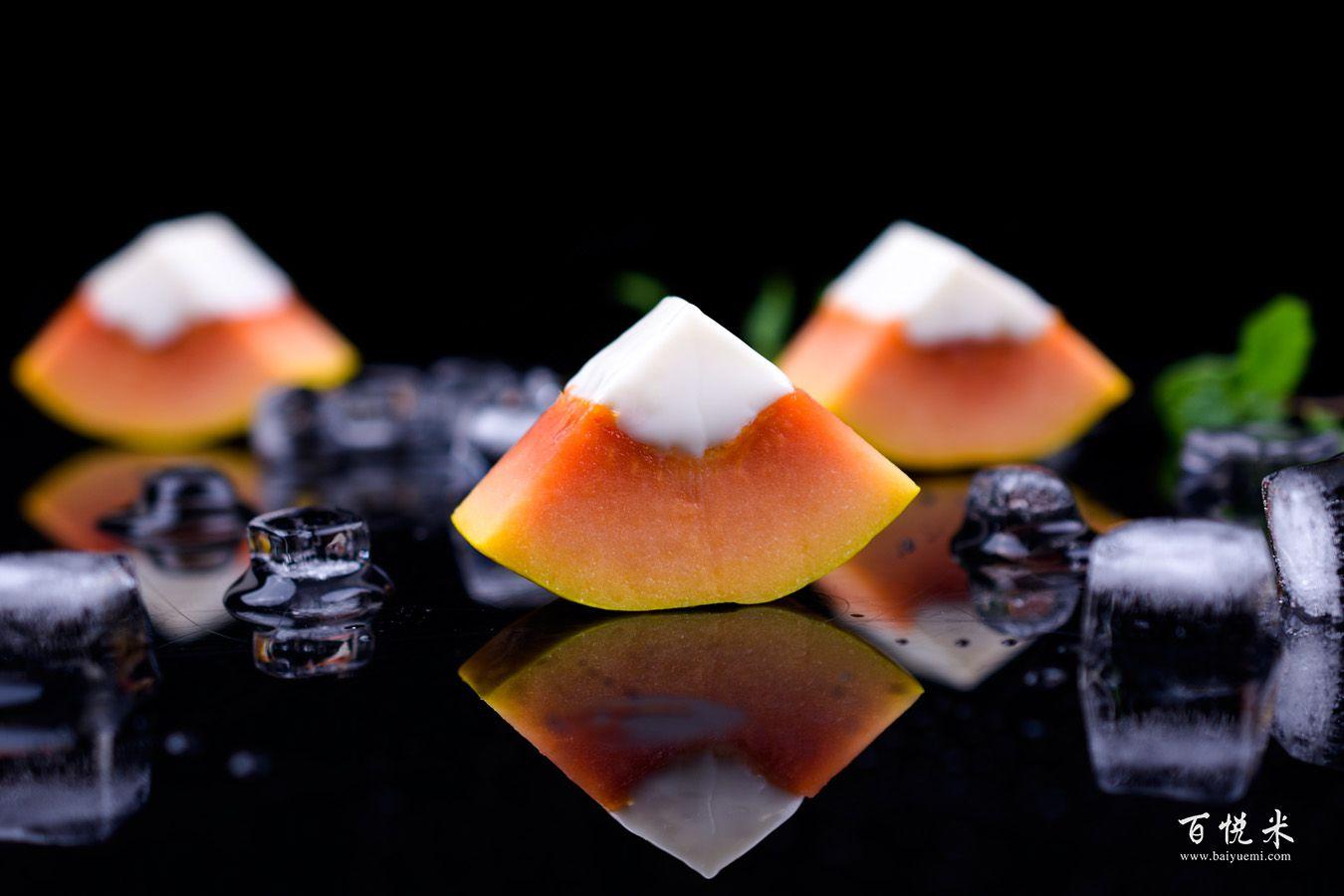 木瓜奶冻的做法大全,木瓜奶冻西点培训图文教程分享