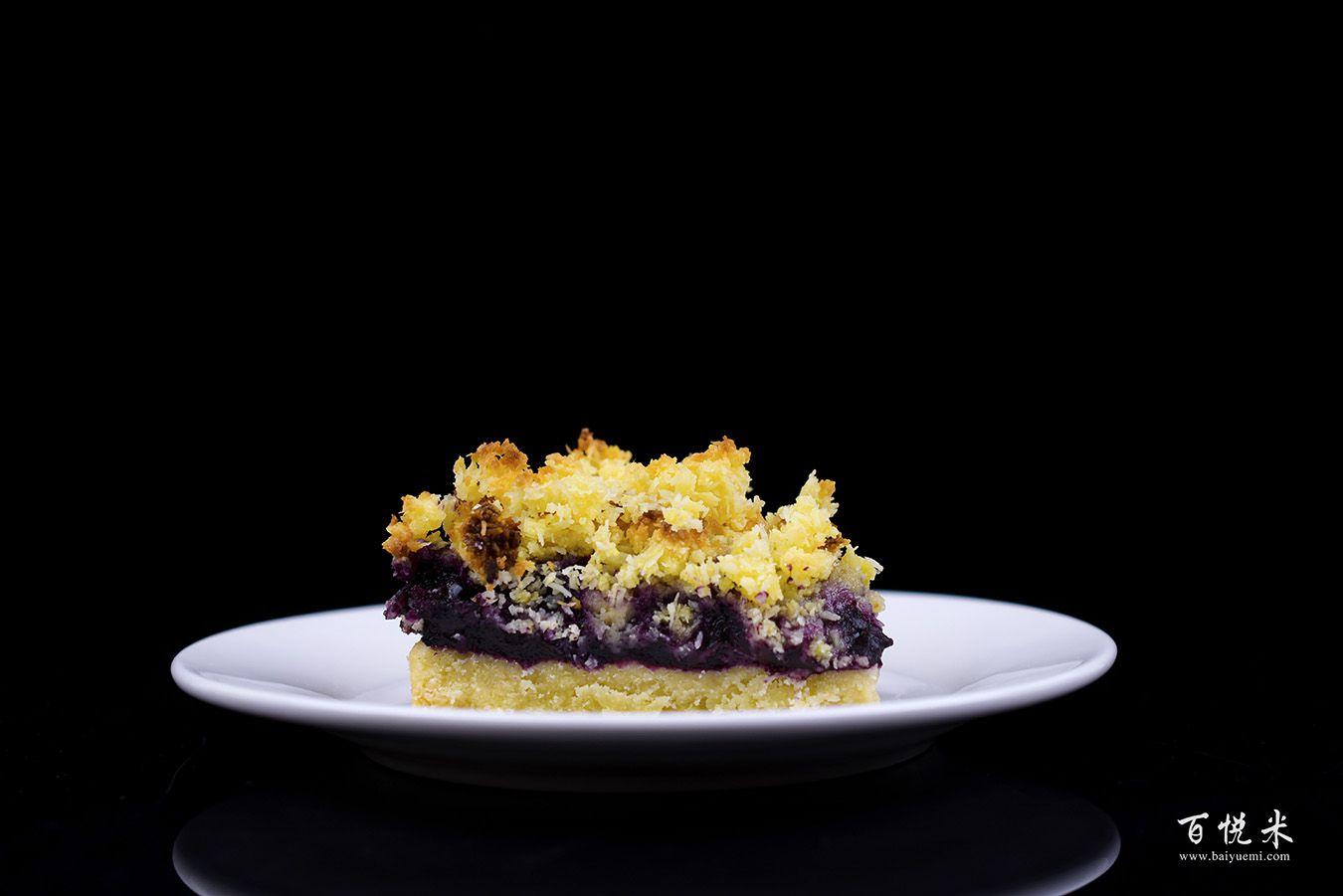 蓝莓酥粒小方块高清图片大全【蛋糕图片】
