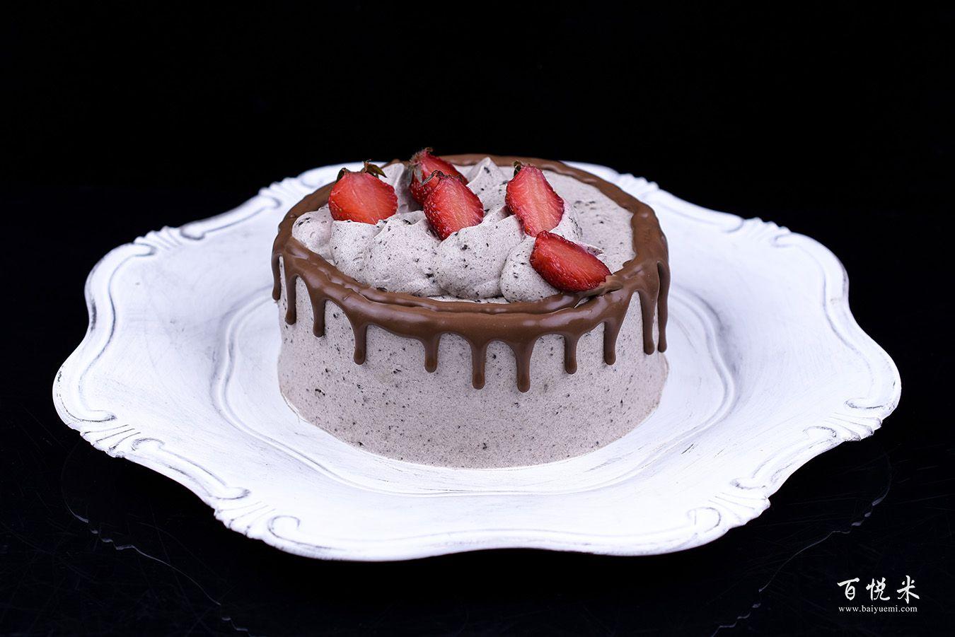 奥利奥咸奶油巧克力淋面蛋糕的做法视频大全_西点培训学习教程