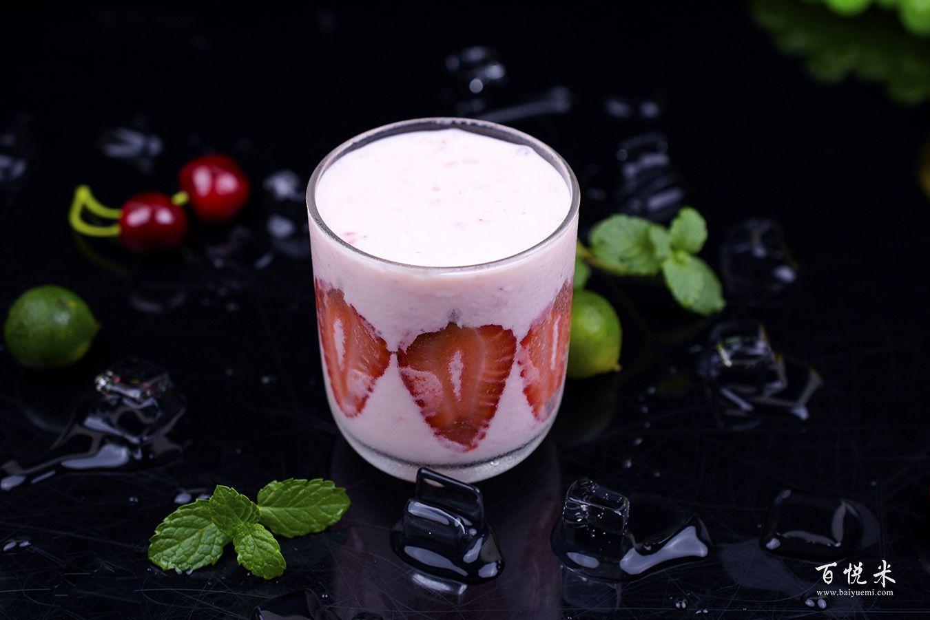 草莓酸奶奶昔高清图片大全【蛋糕图片】