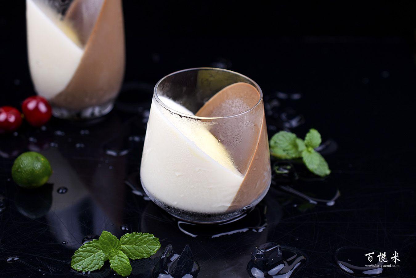 巧克力牛奶心形布丁的做法视频大全_西点培训学习教程